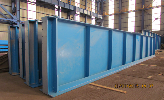 Modification of Steel Structures (Bulks) of Casting Unit ESCO.