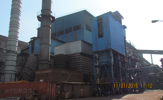 Construction of Desulphurization Unit from Molten Iron at ESCO.